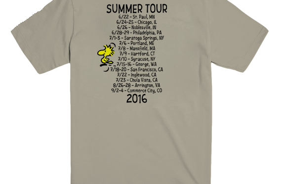 Three Summer Tour Shirts from PhanArt!