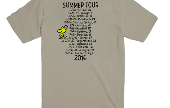 Three Summer Tour Shirts from PhanArt!