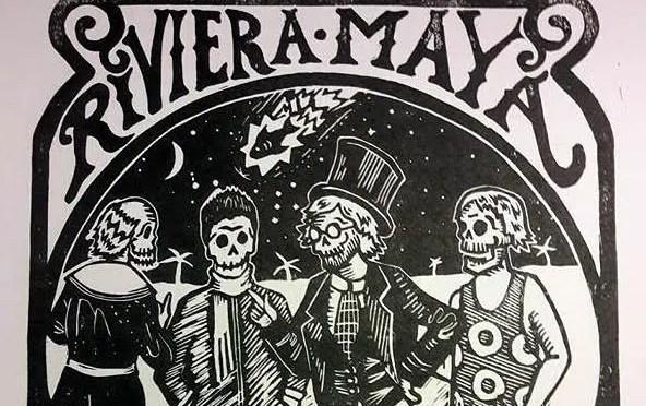Phish Riviera Maya 2017 Linocut Print By Josean Rivera