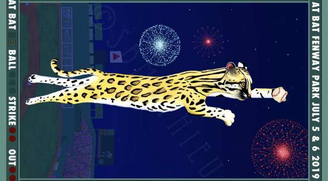 Ocelot Fenway Poster From Sharon Mathieu