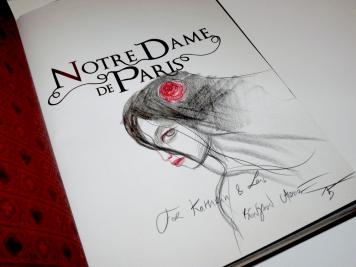 """Mein liebster Buchschatz von Lacombe: Das nicht mehr verlegte """"Notre Dame de Paris"""", nun mit individueller Signatur."""