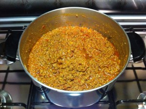 Chili con carne - fine cottura