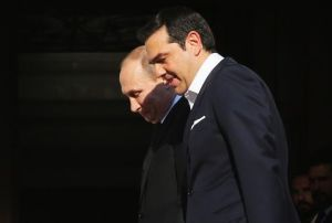 Vladimir Putin, Alexis Tsipras file photo