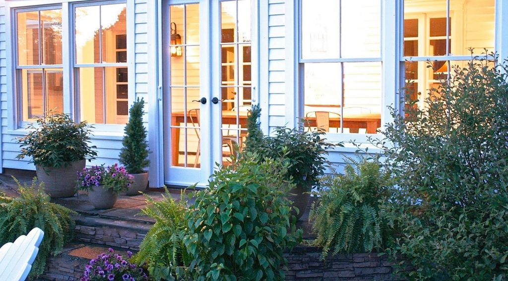 having exterior french doors with