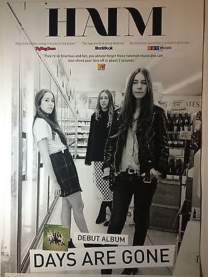 haim-days-are-gone-rare-poster-tour-promo-new-free-poster-pop-indie_121615028648