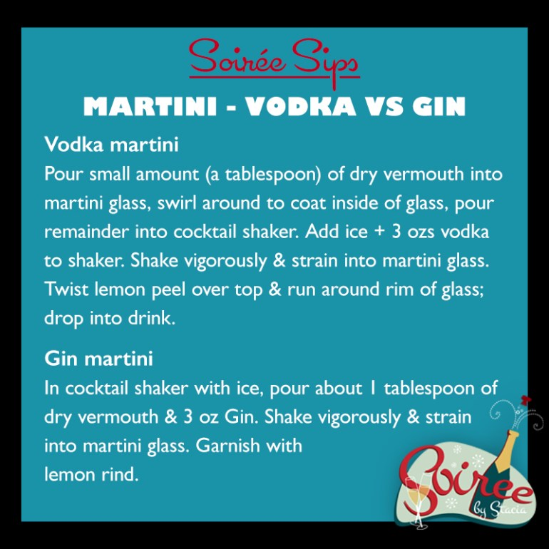 Martini gin vs vodka