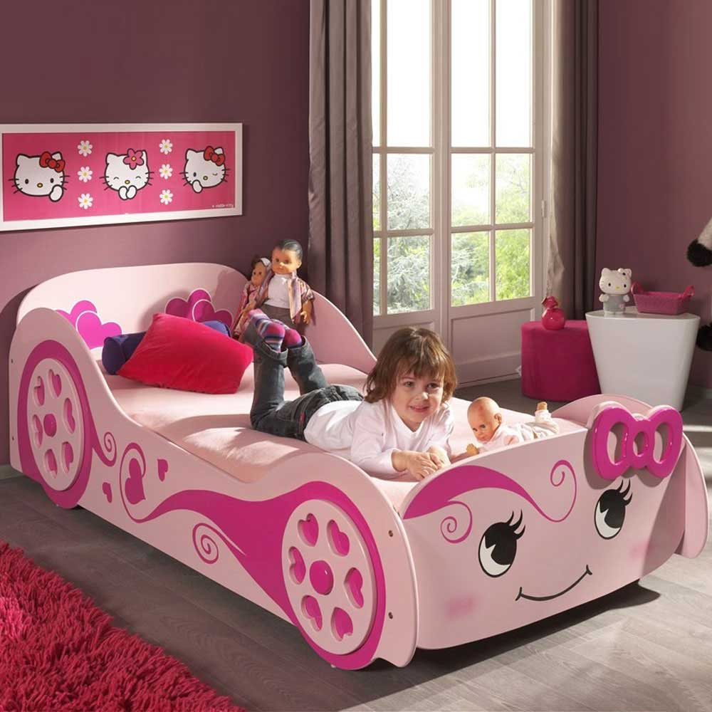 Tolles Kinderbett Hearty fr Mdchen in Rosa  Pharao24de