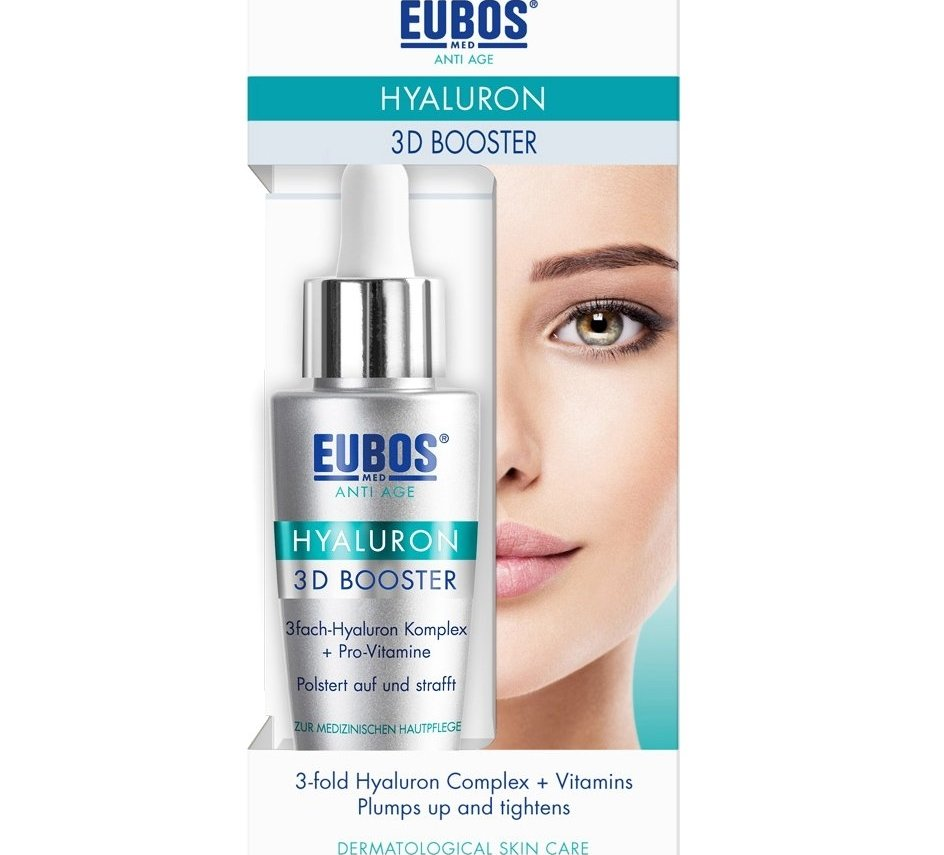Eubos Anti-Age Hyaluron 3D Booster Υδρογέλη Υψηλής Συγκέντρωσης για Τρισδιάστατο Γέμισμα Ρυτίδων, με 3 Είδη Υαλουρονικού 30ml