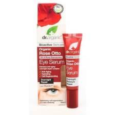 Dr Organic Organic Rose Otto Eye Serum Ορός για τα Μάτια με Βιολογικό Έλαιο Τριαντάφυλλου 15ml