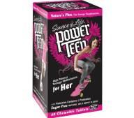 Natures Plus Power Teen For Her Συμπλήρωμα Διατροφής Κοριτσιών για την Υγείατου Ουροποιητικού60 Μασώμενες Ταμπλέτες