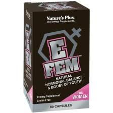 Natures Plus E-Fem Συμπλήρωμα Διατροφής, Ιδανικό για την Διατήρηση της Υγείας του Γυναικείου Οργανισμού 60caps