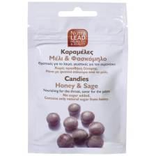 Nutralead Καραμέλες με Μέλι & Φασκόμηλο με Θρεπτικές Ιδιότητες για το Λαιμό & Ευχάριστη Γεύση Χωρίς Ζάχαρη 40gr