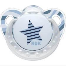 Nuk Trendline AdoreΠιπίλα Σιλικόνης με Κρίκο Χωρίς BPA - Μέγεθος 2 (6-18 μηνών)