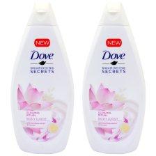 Dove Πακέτο Προσφοράς Glowing Ritual Lotus Flower Body Wash Αφρόλουτρο που Προσδίδει Λάμψη στην Επιδερμίδα 2x500ml 1+1 Δώρο