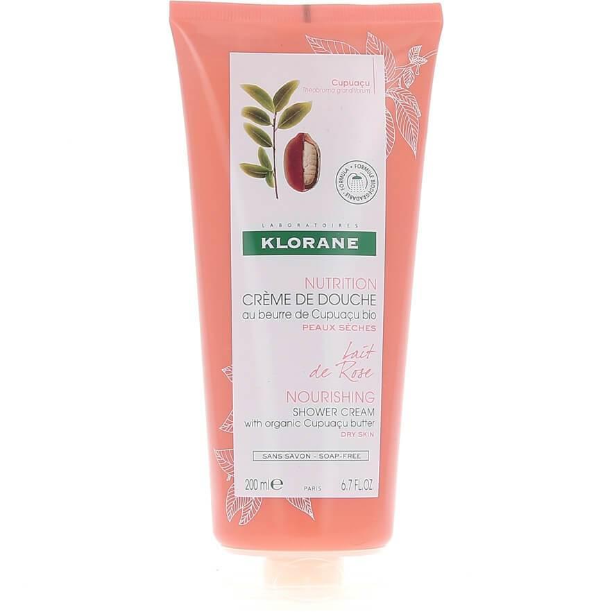 Klorane Nourishing Shower Gel with Organic Cupuacu Butter & Rose Milk Απαλό Αφρόλουτρο με Άρωμα Ρόδου 200ml
