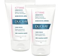 Ducray Πακέτο Προσφοράς Ictyane Creme Mains Κρέμα για Ξηρά & Τραυματισμένα Χέρια 2 x 50ml σε Ειδική Τιμή