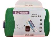 Elgydium Dental Travel Kit Σετ Ταξιδιού με Οδοντόβουρτσα, Οδοντόκρεμα, Οδοντικό Νήμα & Νεσεσέρ σε Πράσινο Χρώμα