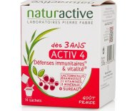 Naturactive Activ 4 Συμπλήρωμα Διατροφής, Πολυβιταμίνη για Παιδιά Από 3 Ετών με Γεύση Φράουλα 14 Sachets