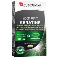 Forte Pharma Expert Keratine Συμπλήρωμα Διατροφής για 6 Φορές Λιγότερο Σπάσιμο στα Εύθραυστα Ταλαιπωρημένα Μαλλιά 40Caps