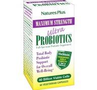 Natures Plus Maximum Strength Ultra Probiotics Πλήρη Προβιοτική Κάλυψη Ολόκληρου του Πεπτικού Συστήµατος 60caps