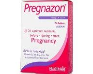 Health Aid Pregnazon Συμπλήρωμα Διατροφής Για Όλα Τα Στάδια Της Εγκυμοσύνης 30tabs