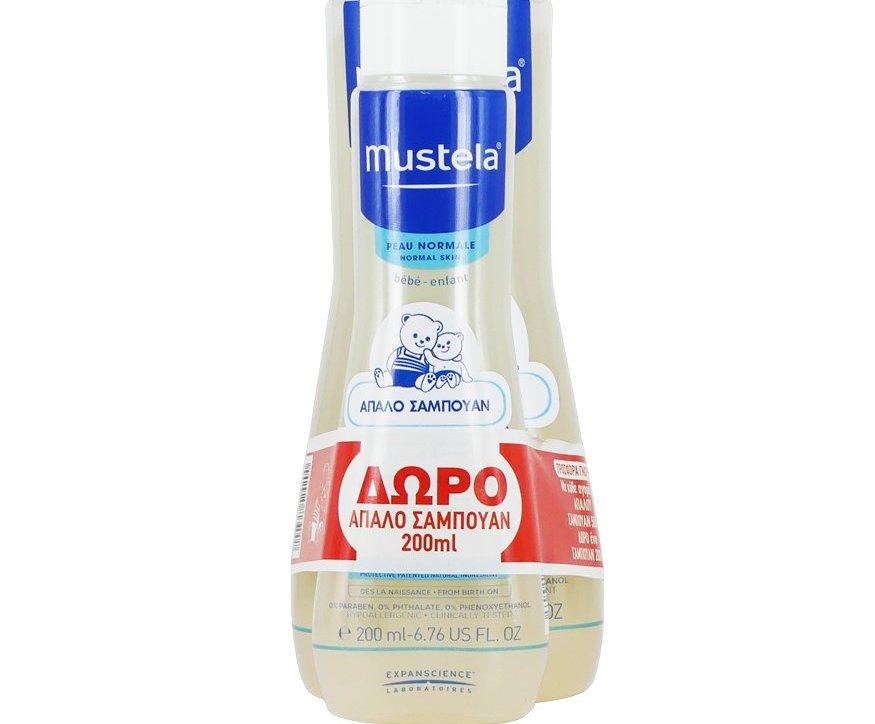 Mustela Πακέτο Προσφοράς Gentle Shampoo Βρεφικό Απαλό Σαμᴨουάν με Εκχύλισμα Χαμομηλιού 500ml & Δώρο Επιπλέον Ποσότητα 200ml