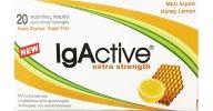 IgActive Extra Strength Παστίλιες για το Πονεμένο Λαιμό με Μέλι Λεμόνι,Συμβάλλουν στην Υποστήριξη του Ανοσοποιητικού 20Παστίλιες