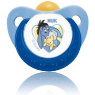 NUK Trendline Disney Γαλάζια Πιπίλα Καουτσούκ Με Κρίκο Μεγέθη 1-2 - Μέγεθος 3 (18-36 μηνών)