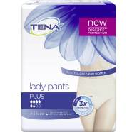 Tena Lady Pants Plus Large Γυναικεία Προστατευτικά Εσώρουχα, 8 τεμάχια