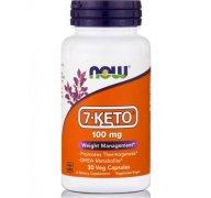 Now Foods 7-KETO® 100mg Συμπλήρωμα Διατροφής για Απώλεια Βάρους & Αύξηση Μεταβολισμού 30 VegCaps
