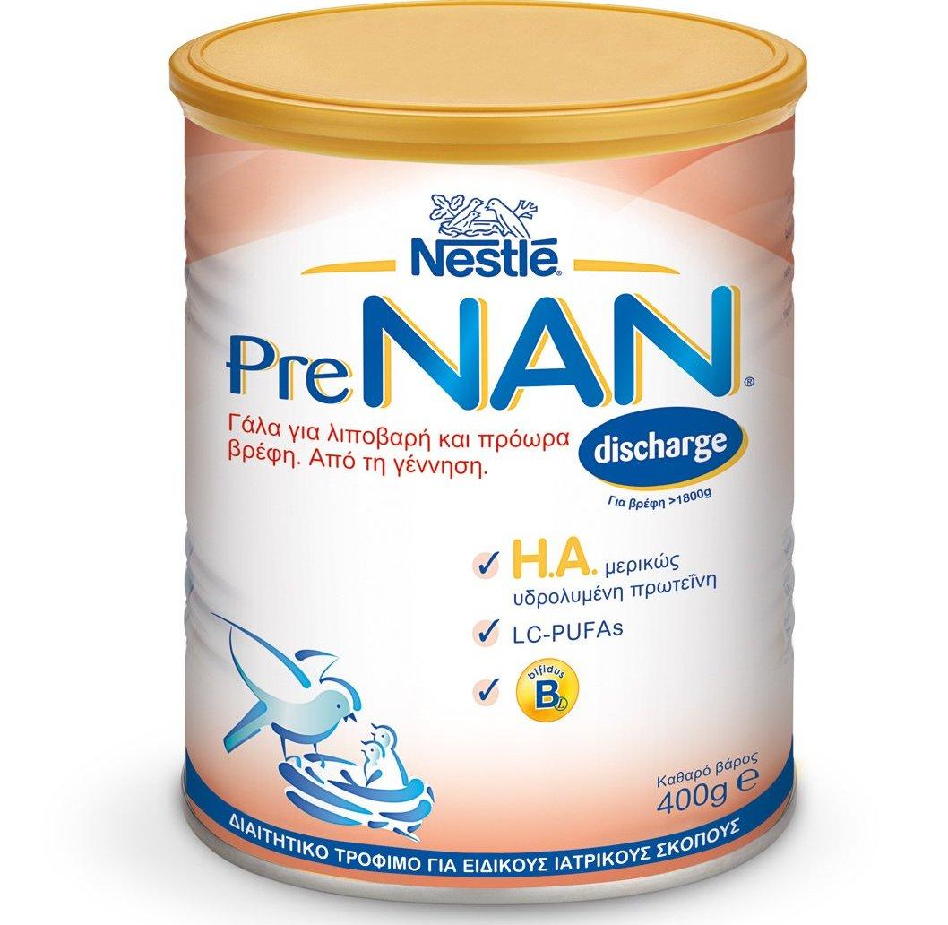 Nestle PreNAN Discharge Γάλα σε Σκόνη για Λιποβαρή & Πρόωρα Βρέφη, Από τη Γέννηση 400gr