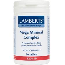Lamberts Mega Mineral Complex Συμπλήρωμα Διατροφής Υψηλής ΔραστικότηταςΜετάλλων90tabs