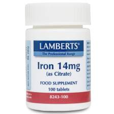 Lamberts Iron 14mg (as Citrate) Σίδηρος Σε Μορφή Citrate 100 tabs