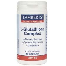 Lamberts L-Glutathione Complex Συμπλήρωμα Διατροφής Γλουταθειόνης με Αντιοξειδωτικές Ιδιότητες 60tabs