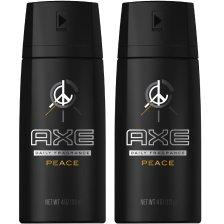 Axe Πακέτο Προσφοράς Peace Deodorant Body Spray 2x150ml 1+1 Δώρο