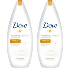 Dove Πακέτο Προσφοράς Nourishing Care & Oil Body Wash Αφρόλουτρο για Μεταξένια Επιδερμίδα από το Πρώτο Ντους 2x750ml 1+1 Δώρο
