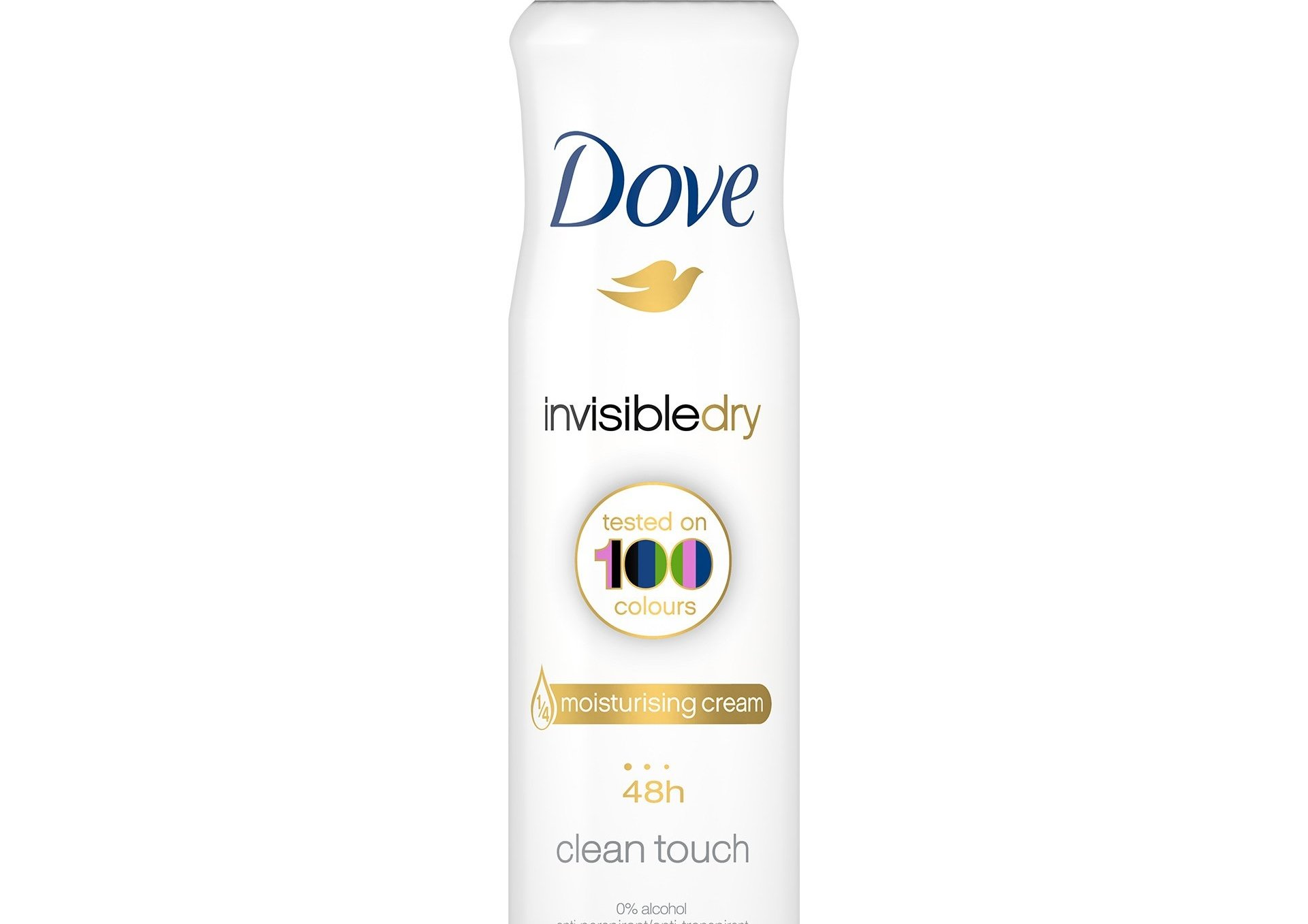 Dove Deo Spray Invisible Dry 48h Clean Touch Αποσμητικό 48ωρης Αντιιδρωτικής Προστασίας Χωρίς Λευκά Σημάδια στα Ρούχα 150ml