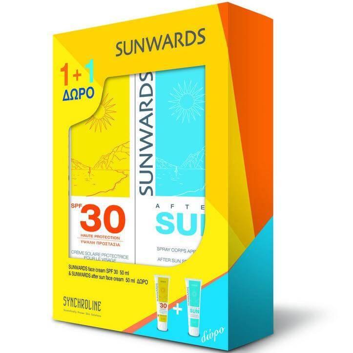 Sunwards Πακέτο Προσφοράς Face Cream Spf30 Αντηλιακή Κρέμα Προσώπου50ml & Δώρο After Sun Face Cream50ml