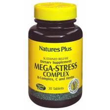 Natures Plus Mega Stress Complex Ισχυρή Φόρμουλα Κατά του Άγχους 30tabs