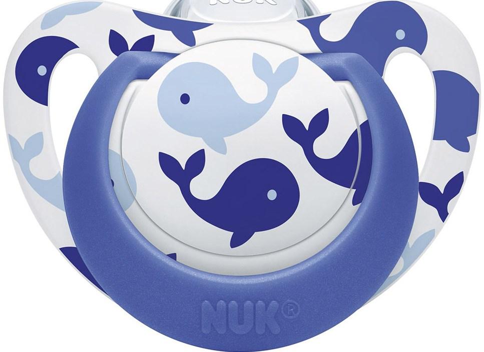 Nuk Genius Color Πιπίλα Σιλικόνης με Κρίκο Χωρίς BPA - Μέγεθος 1 (0-6 μηνών)