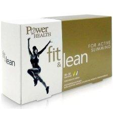 Power Health Fit & Lean for Active Slimming For Active Slimming Διπλό Συμπλήρωμα Διατροφής για Αδυνάτισμα 30+30caps