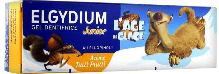 Elgydium Junior Toothpaste Ice Age Tutti Frutti Παιδική ΟδοντόκρεμαGel με ΓεύσηTutti Frutti για Παιδιά 7-12 Ετών 50ml