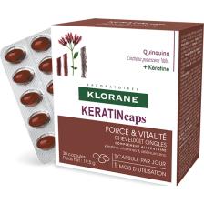 Klorane Keratincaps Quinine Συμπλήρωμα Διατροφής για Μαλλιά και Νύχια 30caps