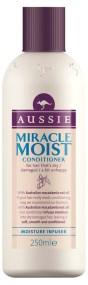 Aussie Miracle Moist Conditioner Ανάσα Δροσιάς Στα Ξηρά Ταλαιπωρημένα Διψασμένα Μαλλιά 250ml