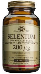 Solgar Selenium Συμπλήρωμα Διατροφής Κατάλληλο για τη Προστασία από Καρδιακές & Εκφυλιστικές Παθήσεις 200μg - 50 tabs