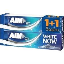 Aim Οδοντόκρεμα White Now 2 x 75ml Πακέτο 1+1