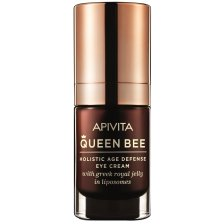 Queen Bee Holistic Age Defence Eye Cream With Greek Royal Jelly In Liposomes 15ml - Apivita,Κρέμα Ματιών Ολιστικής Αντιγήρανσης