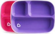 Munchkin Splash Toddler Plates Σετ Πιάτων 2 τμχ - Ροζ - Μωβ