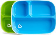 Munchkin Splash Toddler Plates Σετ Πιάτων 2 τμχ - Μπλέ-Πράσινο
