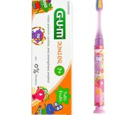 Gum Promo Junior Light-Up Pink Soft Οδοντόβουρτσα & Δώρο Junior Οδοντόκρεμα 7-12 Ετών Tutti Frutti 50ml - ροζ